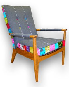 Patchwork wooden armchair in Designers Guild by JustinaDesign, £395.00                                                                                                                                                                                 Más
