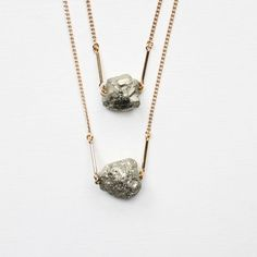 pyrite nugget necklace by the vamoose. so cute.