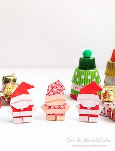 Esta manualidad es tan tierna que de sólo verla quieres hacerla! Te muestro cómo hacer estos Santa de origami!