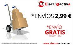 ¡¡Ahora todos nuestros envíos a 2,99 € y partir de 70€ de compra,el envío es GRATIS!!** Envío por @ASM_oficial 24/48h http://www.electroactiva.com  #PymesUnidas (*Oferta válida para pedidos realizados en España Peninsular)