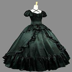 raso steampunk®victorian guerra civile sfera abito meridionale vestito da promenade belle del 2016 a €124.45