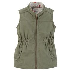 Just One You™Made by Carter's® Girls' Zip Up Vest - Olive