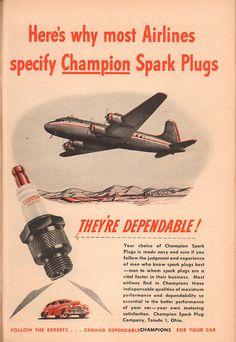 1946 Champion Spark Plug Advertisement Popular Science February 1946 | by SenseiAlan