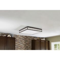 Shop allen + roth Linenline Light Bronze Ceiling Fluorescent Light ENERGY STAR (Common 2  sc 1 st  Pinterest & I ADORE this for a kitchen-who knew fluorescent lighting could be ... azcodes.com