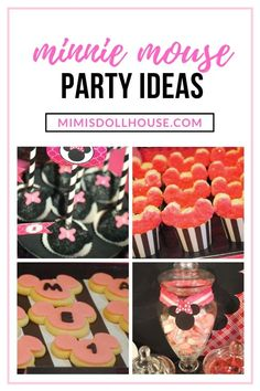 Pretty pink Minnie Mouse ideas for a fun birthday! Here is a fun twist on the classic Minnie Mouse birthday party with fun pink. Mickey Mouse Treats, Minnie Mouse Cake Pops, Minnie Mouse Clubhouse, Pink Minnie, Mickey Mouse Parties, Birthday Party Treats, 1st Birthday Party For Girls, 1st Birthday Party Decorations, Mickey Mouse Birthday