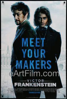 Happy Birthday Daniel Radcliffe!  Victor Frankenstein 2015 Style A Advance 27x40 One Sheet United States