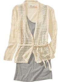 I adore pointelle knit sweaters-good for winter and summer at work