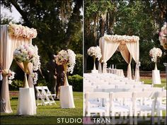 Outside Wedding Ceremony with Canopy #winkdesign