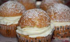 Puha muffin krémtúrós krémmel