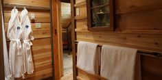 Curl up in your fluffy robe after an exhilarating day in… Luxury Cabin, Rustic, Home, Design, Country Primitive, Ad Home, Retro, Farmhouse Style