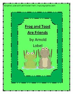 Frog and Toad Are Friends Literary Unit | * Best ...