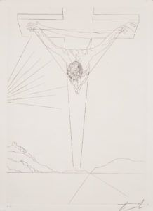 Christ of St. John of the Cross Drawing by DALÍ, Salvador