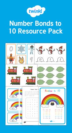 This resource pack includes a set of resources to support your teaching on number bonds to Number Bonds To 10, Classroom Displays, Year 2, Numeracy, Hands On Activities, Maths, Numbers, Kindergarten, Packing