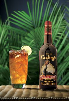 The greatest drink of all: the dark 'n stormy ~ fill glass with ice, add 1/3 rum, top with ginger beer (mixer section of liquor store), squeeze in fresh lime, mix and enjoy this Bermuda sensation!