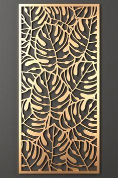 Decorative panel 184 - One Decorative Panels, Decorative Objects, Metal Wall Art, Wood Art, 3d Laser Printer, Deco Zen, Cnc Cutting Design, Laser Cut Panels, Room Partition Designs