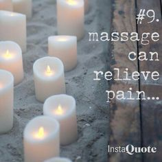 """Touchwood massage therapy.  """"Massage can relieve pain."""""""
