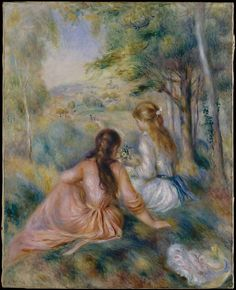 Auguste Renoir (French, 1841–1919). In the Meadow, 1888–92. The Metropolitan Museum of Art, New York. Bequest of Sam A. Lewisohn, 1951 (51.112.4)