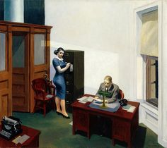 """Office at Night"" by Edward Hopper  ~Repinned Via Annie Meza http://toomuchart.tumblr.com/image/27226097529"