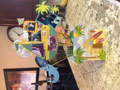 Instead of a photo board - luau themed party!