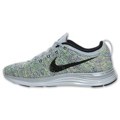 Sweetest color to date! We <3 them -- Nike Flyknit Lunar1+ Women's Running Shoes | Run.com | GRY-BLK-RYL