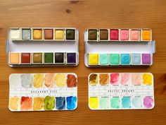 Prima Marketing watercolor confections pastel dreams and decadent pies watercolor pans Watercolor Pallet, Watercolor Pans, Prima Watercolor, Watercolor Paintings, Watercolors, Watercolor Images, Notebook Art, Decadent Cakes, Tape Art