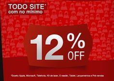 12% de desconto em todo site! Aproveite hoje, 12/03 na Fnac
