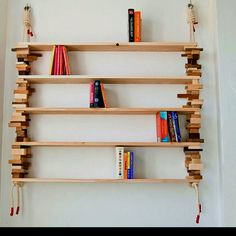 Possible idea for DIY shelf, might simplify mine though, not so crazy with the cute little wood blocks.