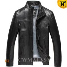 CWMALLS® Mens Vintage Leather Jackets CW807018 CWMALLS offers customize for this Vintage leather jacket for men made of rich natural lambskin leather shell and fully lining, classics front zip leather jacket featuring with stand collar, snap button closure, side hand pockets, available in black, brown. www.cwmalls.com PayPal Available (Price: $598.89) Email:sales@cwmalls.com