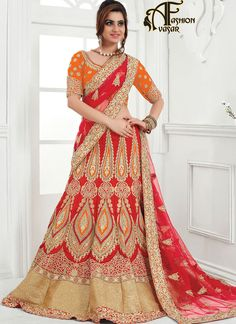 best lehenga choli online shopping india.Make the heads flip whenever you dress up with this appealing Deep Scarlet Raw Silk Unstitched Lehenga Choli. This attire is nicely made with Stones & Lace work.