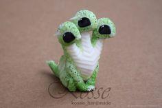 Детеныш Змея Горыныча – купить или заказать в интернет-магазине на Ярмарке Мастеров | Детеныш Змея Горыныча - тройное счастье, в 3 раза…