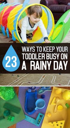 23 Affordable Ways To Keep Your Toddler Busy On A Rainy Day... I love these ideas! And so many of them are artsy!!
