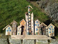 Huse lavet af drivtømmer