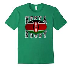 #Kenya Rugby Fans National Flag #Rugby Ball Bold Collegiate Text #TShirt Support your #Rio2016 teams #rugby7s #olympics  http://amzn.to/29tc7jO