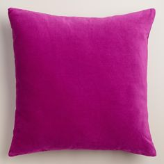Crafted of luxurious cotton velvet, our aster purple throw pillow is a classic accent for any room. Combine this exclusive accent with our other velvet pillows in an array of chic colors to refresh your decor instantly.