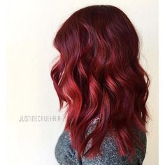 Ruby red hair color ❤ liked on Polyvore featuring beauty products, haircare, hair color and hair