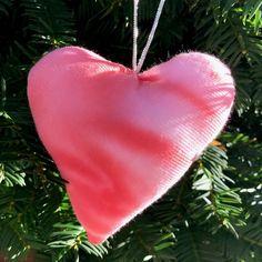 Tie Dyed Heart Shape Christmas Tree Ornament