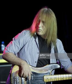 Bassist Trevor Bolder of the British hard rock band Uriah Heep performs live during a concert at the Postbahnhof on December15, 2009 in Berlin, Germany. The concert is part of the 2009 tour