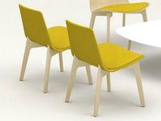 Fabric easy chair LOTTUS LOUNGE WOOD - ENEA