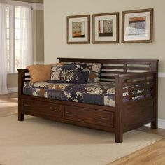 Buy Home Styles Cabin Creek Storage Daybed, Chestnut in Cheap Price on Alibaba.com
