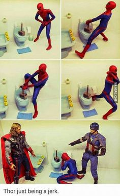 Image via We Heart It https://weheartit.com/entry/169210102 #Avengers #cap #Marvel #spiderman #thor