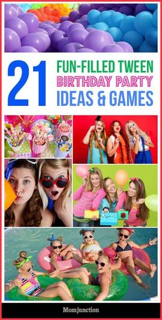 21 Fun Filled Tween Birthday Party Ideas And Games Finding the best games for a preteen party is a bit tricky. Here is list of tween birthday party ideas and games that are sure to break the ice at parties! Preteen Birthday Parties, Tween Party Games, Teen Girl Birthday, Sleepover Games, Sleepover Party, 12th Birthday, Teen Parties, Tween Girl Party Ideas, Girls Birthday Party Games