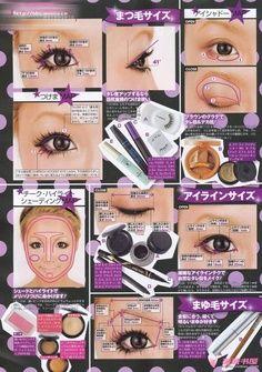 Gyaru circle lenses and Makeup tutorials using circle contact lens. Big , pretty eyes as seen on Popteen models like Tsubasa Masuwaka and Kumiko Funamiyama!