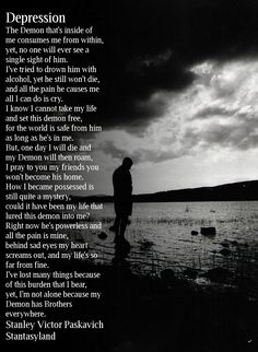 Poem about depression