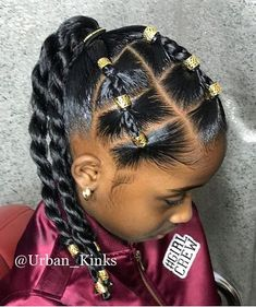 Hairstyles black ✨Urbanista✨ Children's Hair Style The Perfect Protective Style . ✨Urbanista✨ Children's Hair Style The Perfect Protective Style . Tag your homie. Tag your coworker. Share/ Repost❗️❗️❗️❗️Support is… Cute Little Girl Hairstyles, Little Girl Braids, Natural Hairstyles For Kids, Kids Braided Hairstyles, Braids For Kids, Natural Hair Styles Kids, Black Children Hairstyles, Hairstyles For Black Kids, Mixed Baby Hairstyles