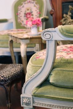 FRENCH COUNTRY COTTAGE: French Needlepoint Chairs & Joss & Main Event