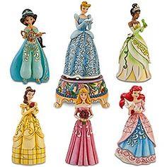 Disney Princess Sonata Collection. Jim Shore has such a wonderful style...