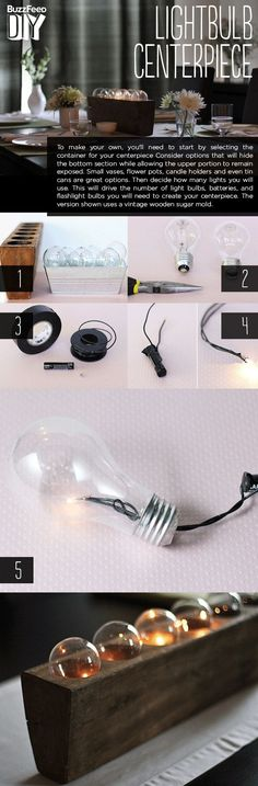This light is made with burned out lightbulbs. | 33 Impossibly Cute DIYs You Can Make With Things From Your Recycling Bin
