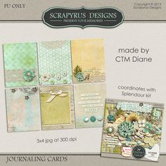 Scrapbooking TammyTags -- TT - Designer - Scrapyrus Designs, TT - Item - Journal Card