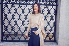 Loving every day. 😍🔝 Stylish @Dana Rogoz wears 2550 cardigan by Ioanna Kourbela. Find it @www.xamamclothes.com #xamamphilosophytowear #ioannaKourbela #IoannakourbelaBASICS #2550cardigan #polymporphic #favorite #chania #fashion #cardigan #streetstyle #blogger Office Fashion, Everyday Look, Bell Sleeve Top, Street Style, Elegant, Stylish, Celebrities, Instagram Posts, Office Style