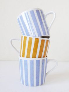 Striped Mug Set